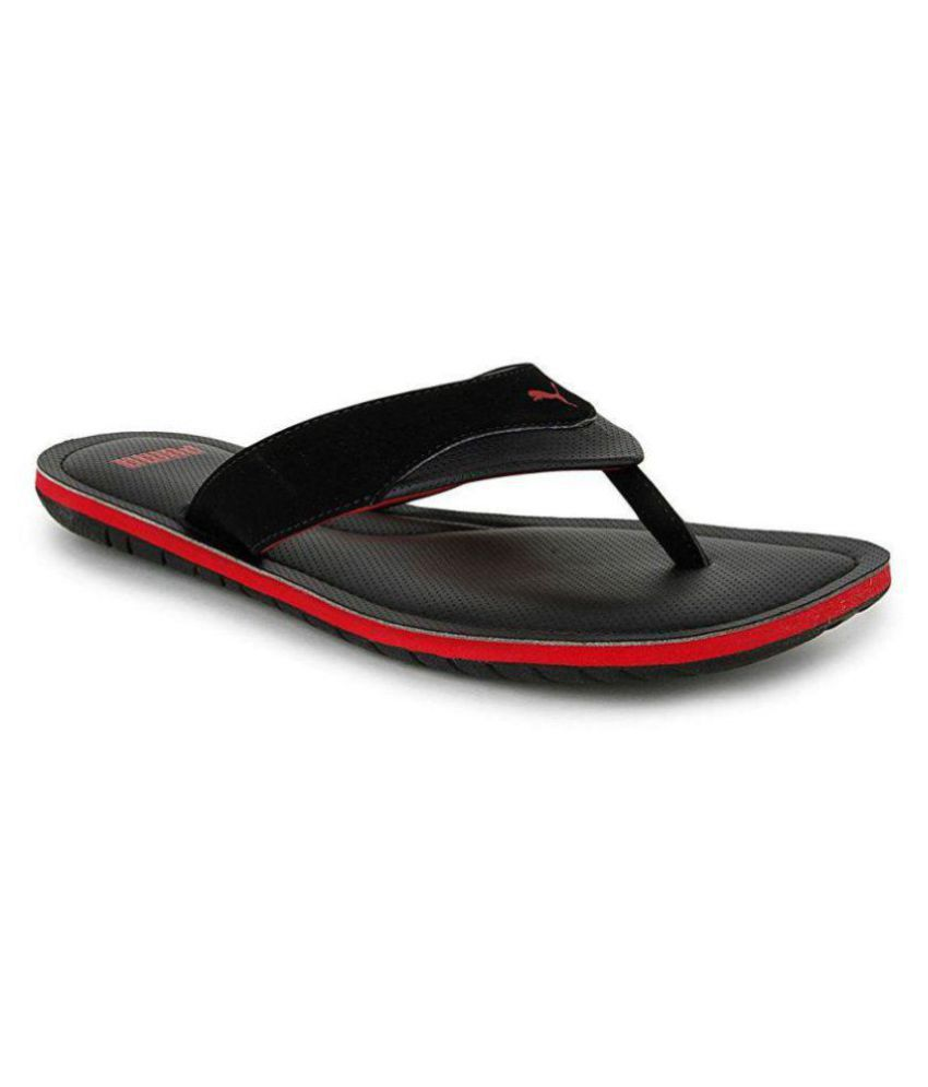 Puma Black Daily Slippers Price in