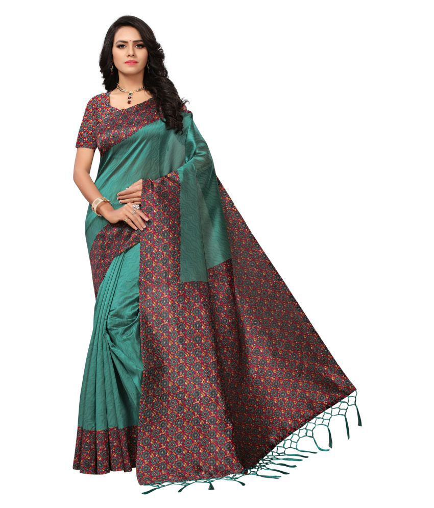 Glamour green Mysore Silk Saree