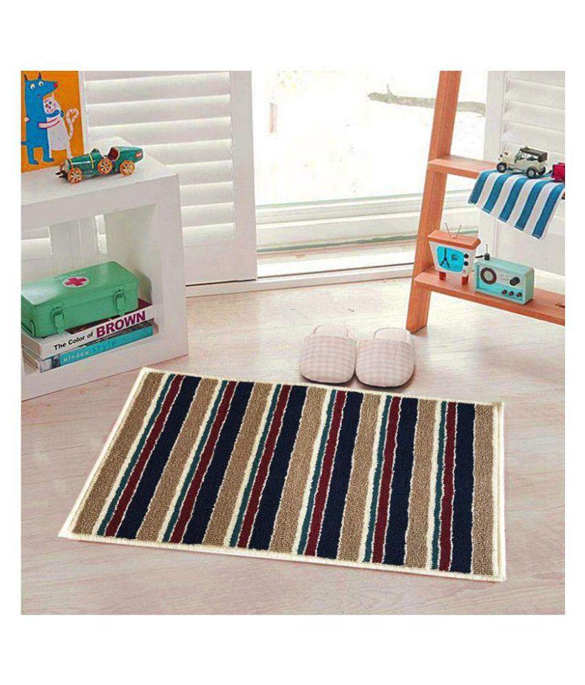 Maasha Store Brown Single Anti-skid Floor Mat