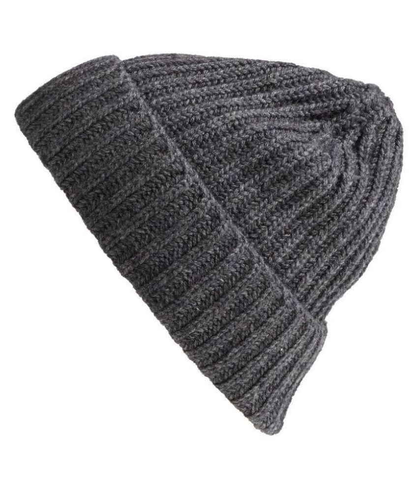 Tahiro Gray Woollen Beanie Cap  Buy Online at Low Price in India - Snapdeal 4942a38f1e2