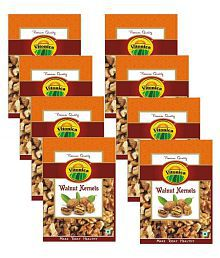 VITONICA Brown Walnut Kernel (Akhrot) 250 gm Pack of 8