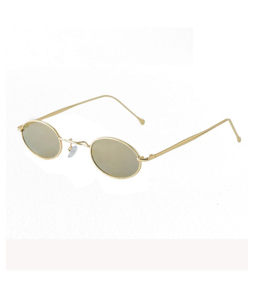 Fashion Retro Punk Style Oval Small Frame Sunglasses