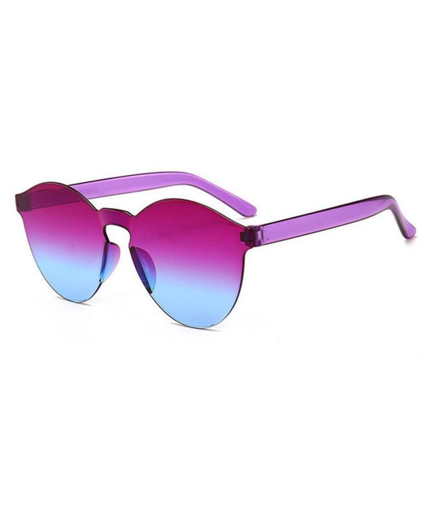 Unisex Fashion Round UV400 Frameless Sunglasses