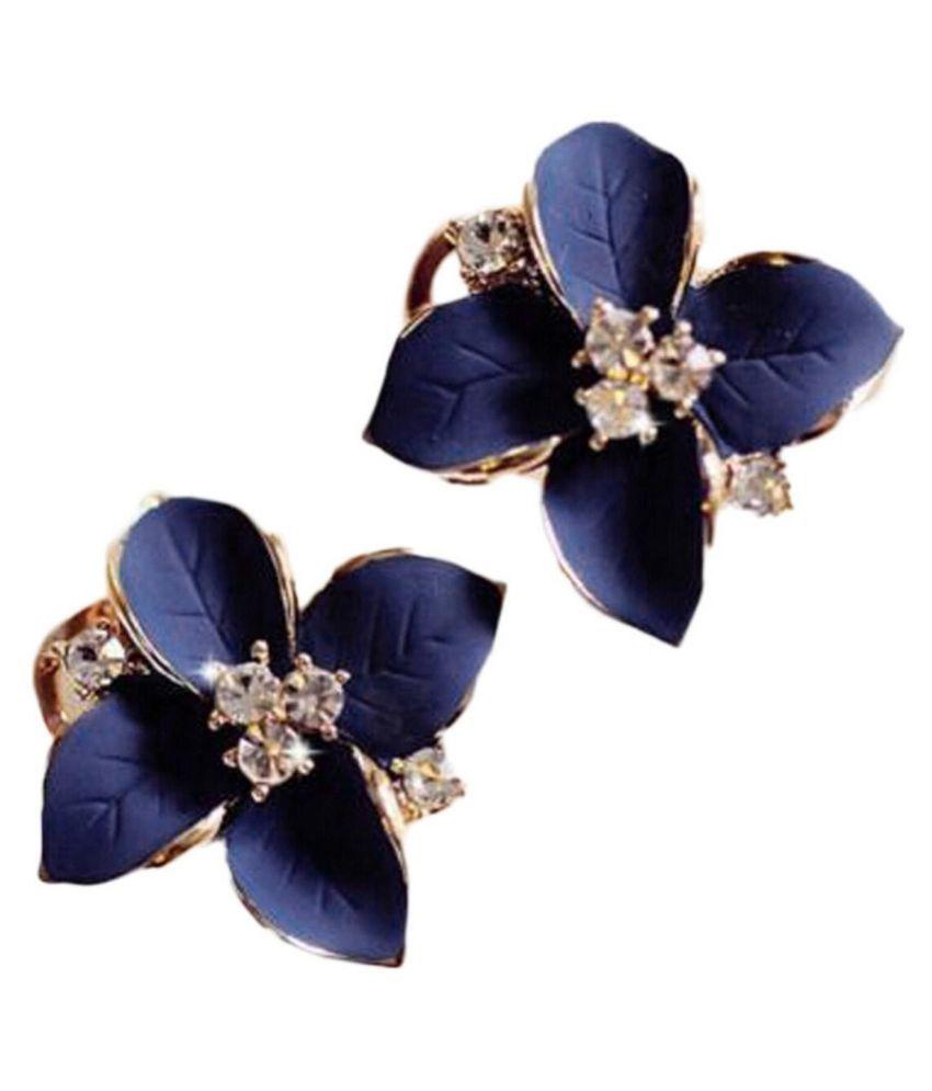 New Women Fashion Earrings Jewelry Trendy Floral Shape Charm Wedding Gift