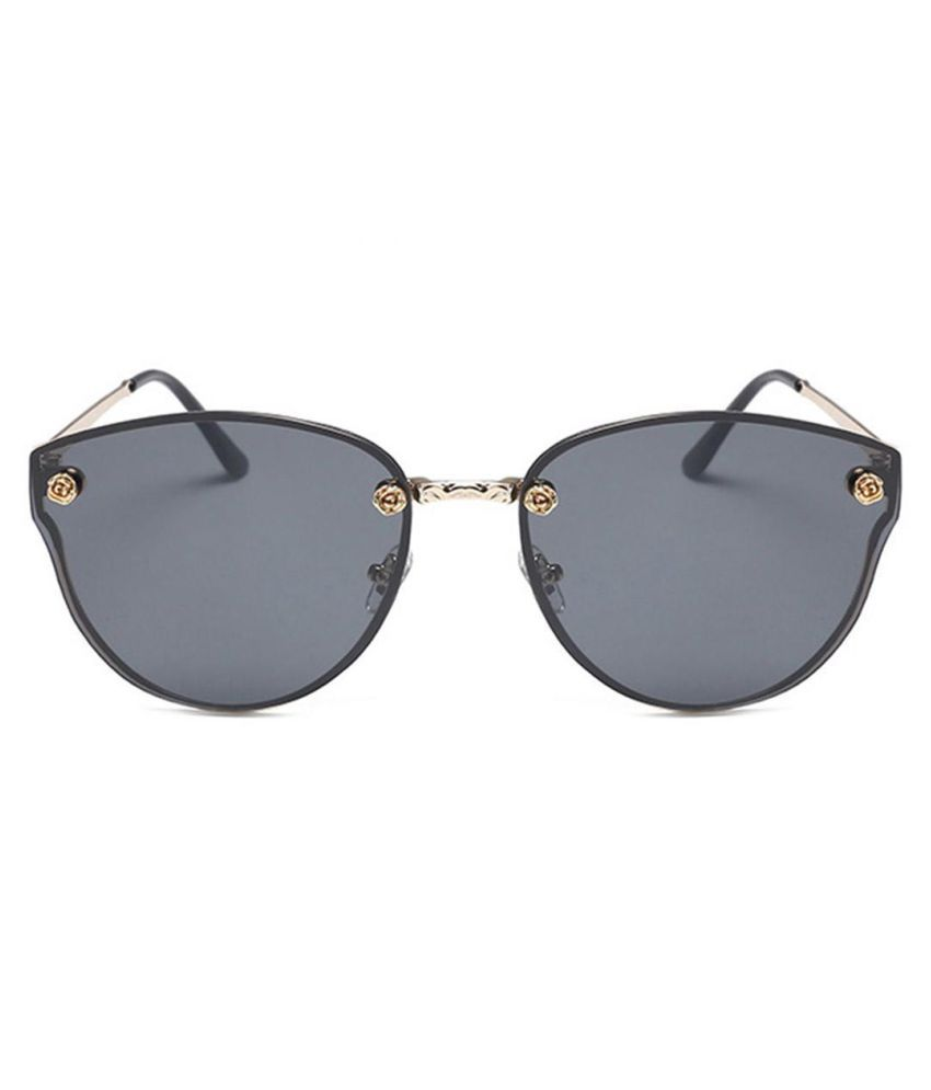 dd48e7660d3 Men Women Shades Mirror Sunglasses UV Protection Gold Metal Frame Sunglasses   Buy Online at Low Price in India - Snapdeal