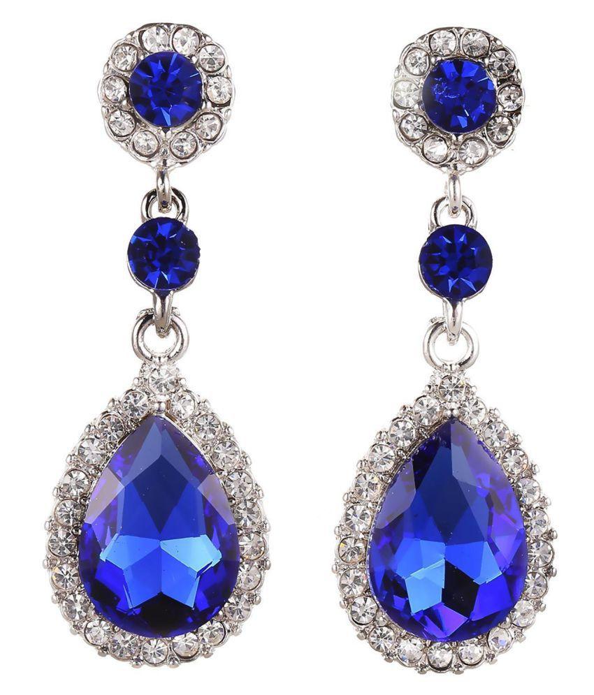Women Fashion Imitated Rhinestone Water Drop Dangle Earrings Jewelry Earrings