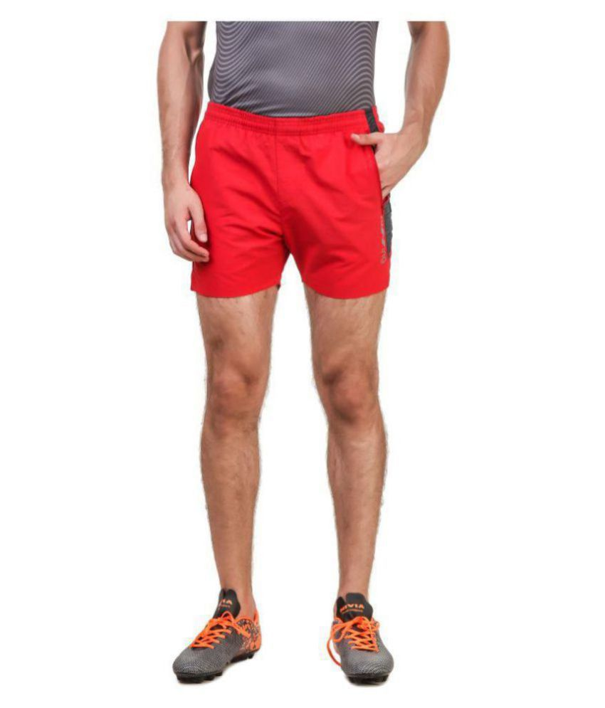Nivia Red Polyester Fitness Shorts-2039M-2
