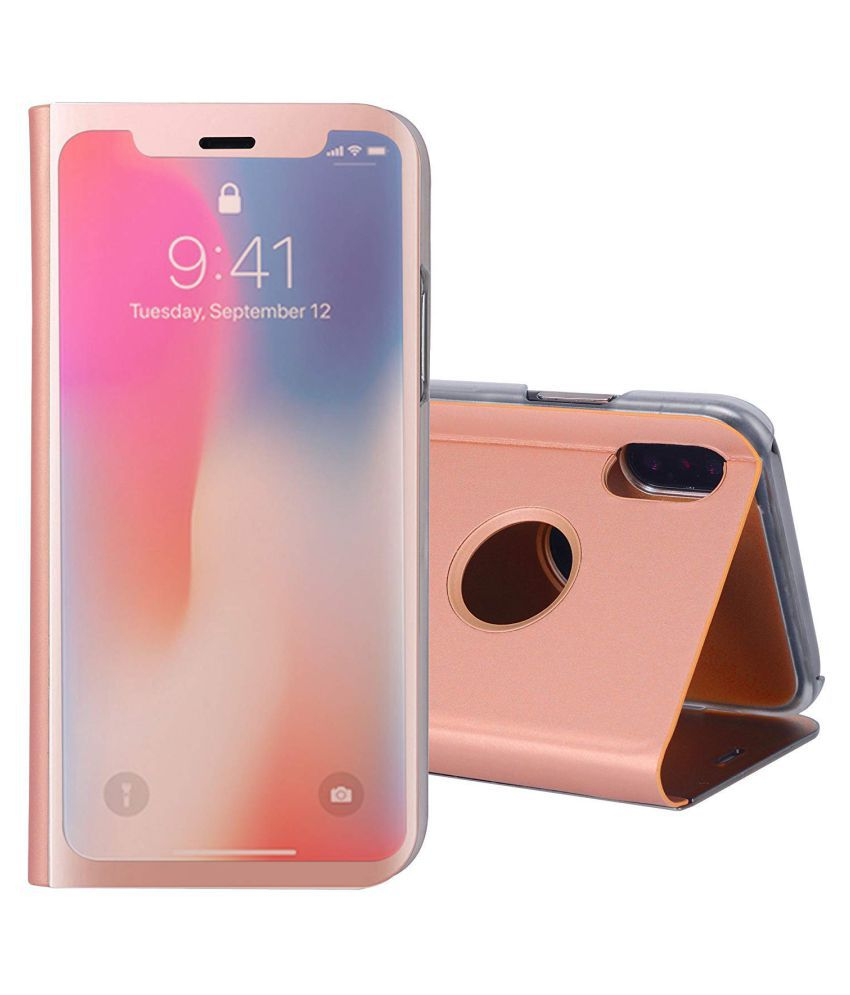 more photos f3969 24fab Apple iPhone XS Max Flip Cover by TGK - Pink -