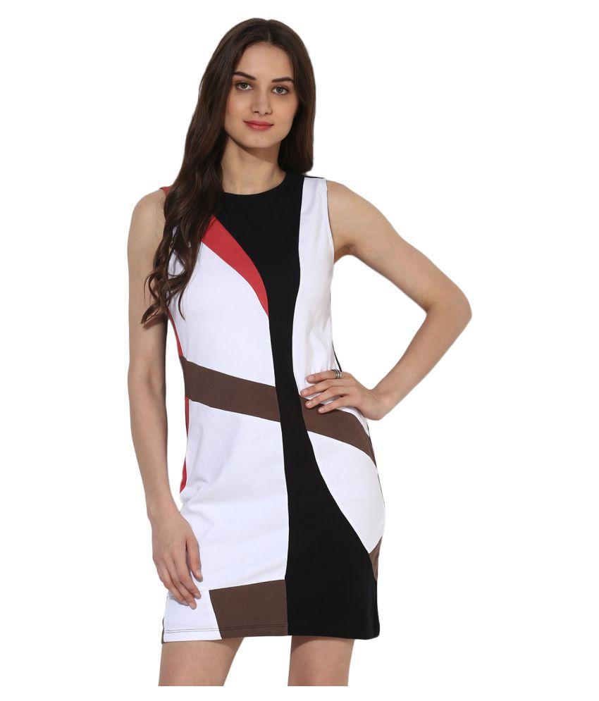 HEATHER HUES Polyester Black A- line Dress