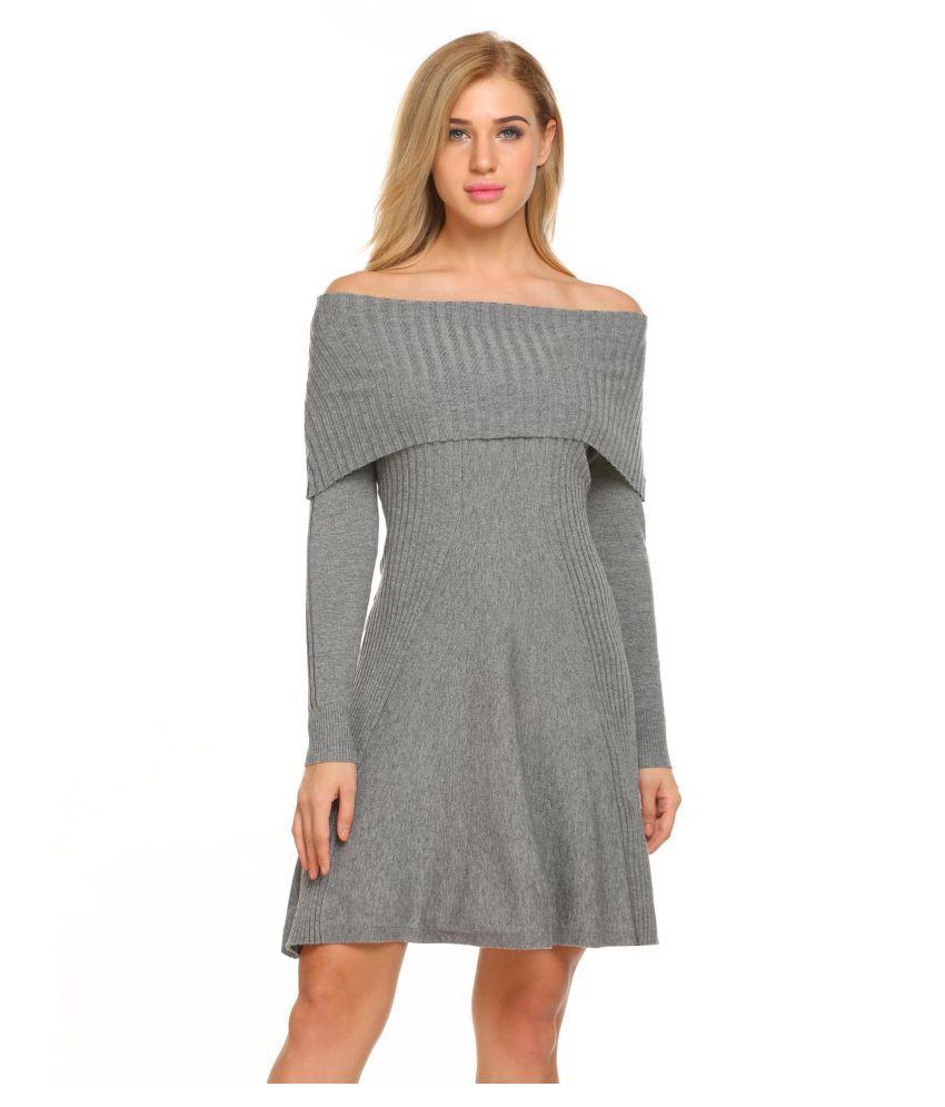 5a01bca18d Women Long Sleeve Slash Neck Off Shoulder Knitting Sweater Dress - Buy  Women Long Sleeve Slash Neck Off Shoulder Knitting Sweater Dress Online at  Best ...