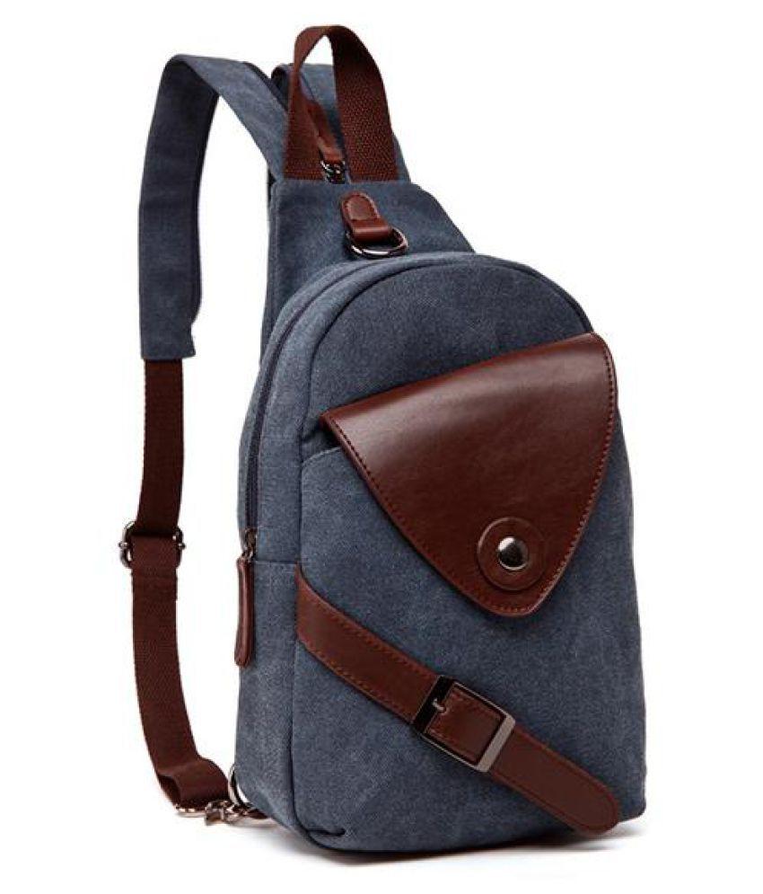 Multi-functional Canvas Outdoor Backpack Sling Bag Chest Bag Crossbody Bag For Men