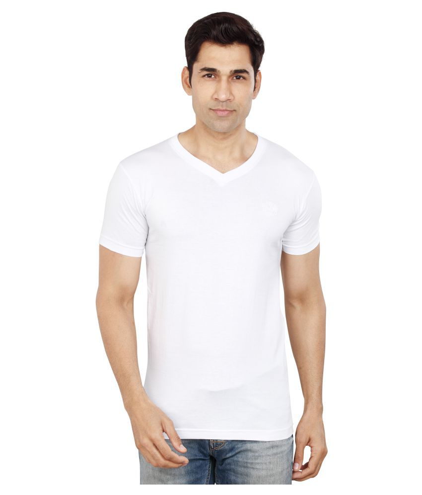 Dudlind White Half Sleeve T-Shirt