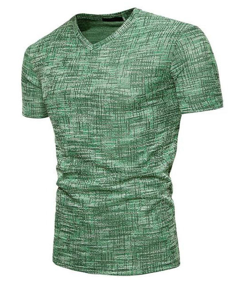 b86f28558 Mens Summer Solid Color V-neck Slim Fit Basic Casual T Shirt - Buy ...