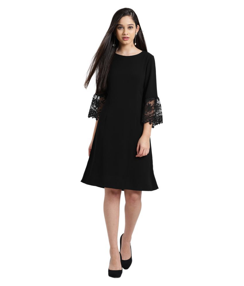 Zink London Polyester Black Regular Dress