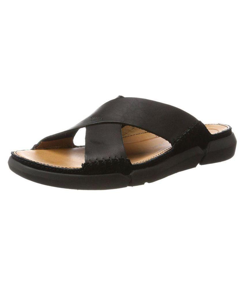 0a0add922434 Clarks Black Slide Flip flop Price in India- Buy Clarks Black Slide Flip  flop Online at Snapdeal