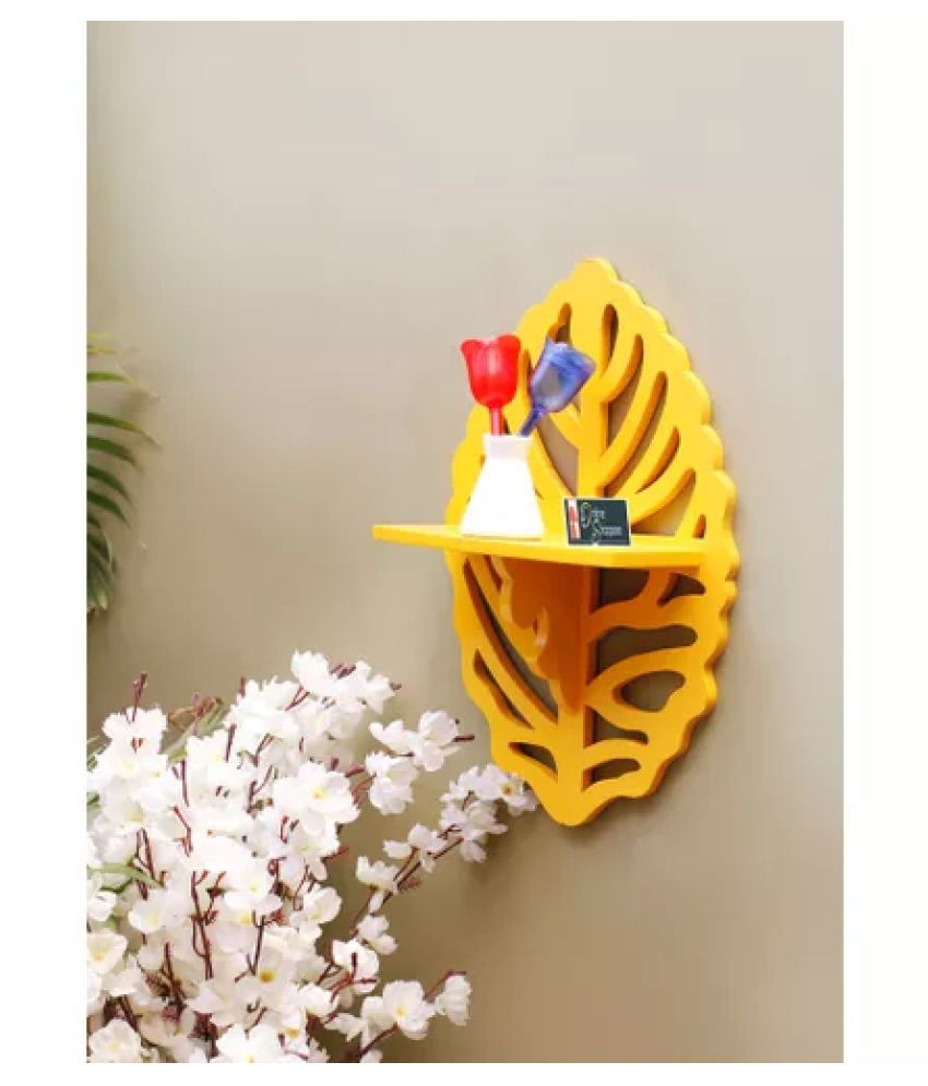 Onlineshoppee Floating Shelves Gold MDF - Pack of 1