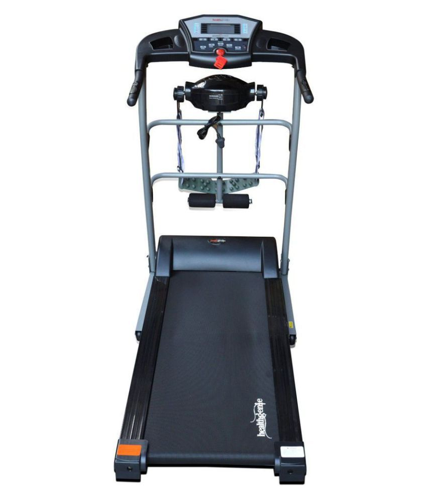 Healthgenie Drive 4012M Motorized Treadmill (2 0 HP) With Silicone  Lubricant 550, Manual Incline & Max Speed 14 Kmph - 12 Months Warranty /  Exercise