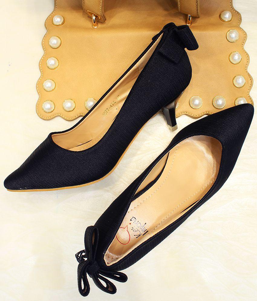 KETIMPORTA Black Kitten Heels
