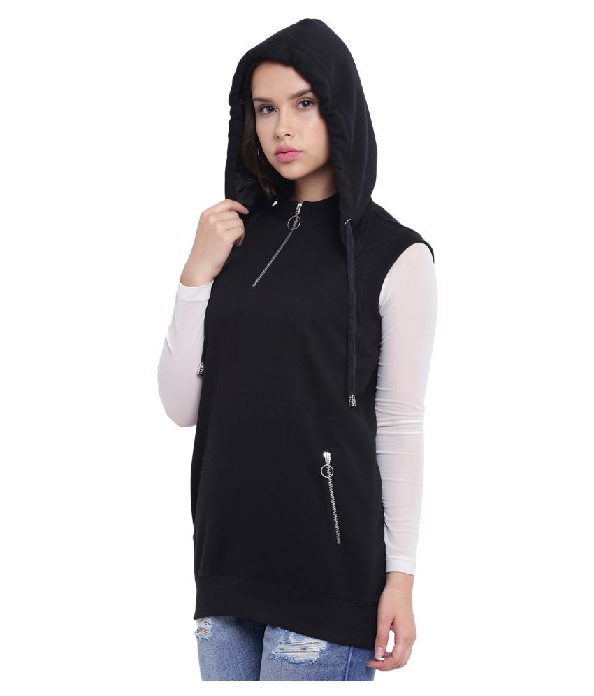 Texco Fleece Black Hooded Sweatshirt