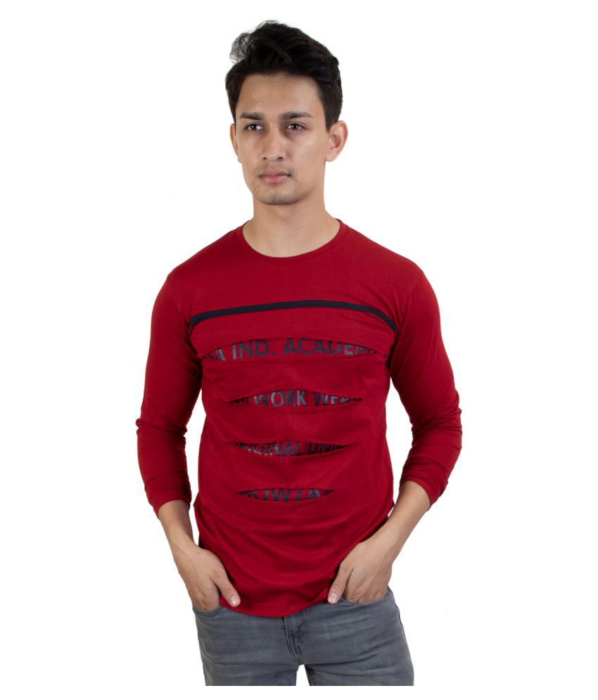CAPE9 Red Full Sleeve T-Shirt