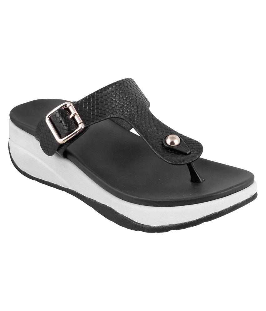 Metro BLACK Wedges Heels