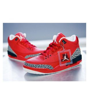 low priced 7a69f f07c2 Nike RETRO 3 Red Basketball Shoes