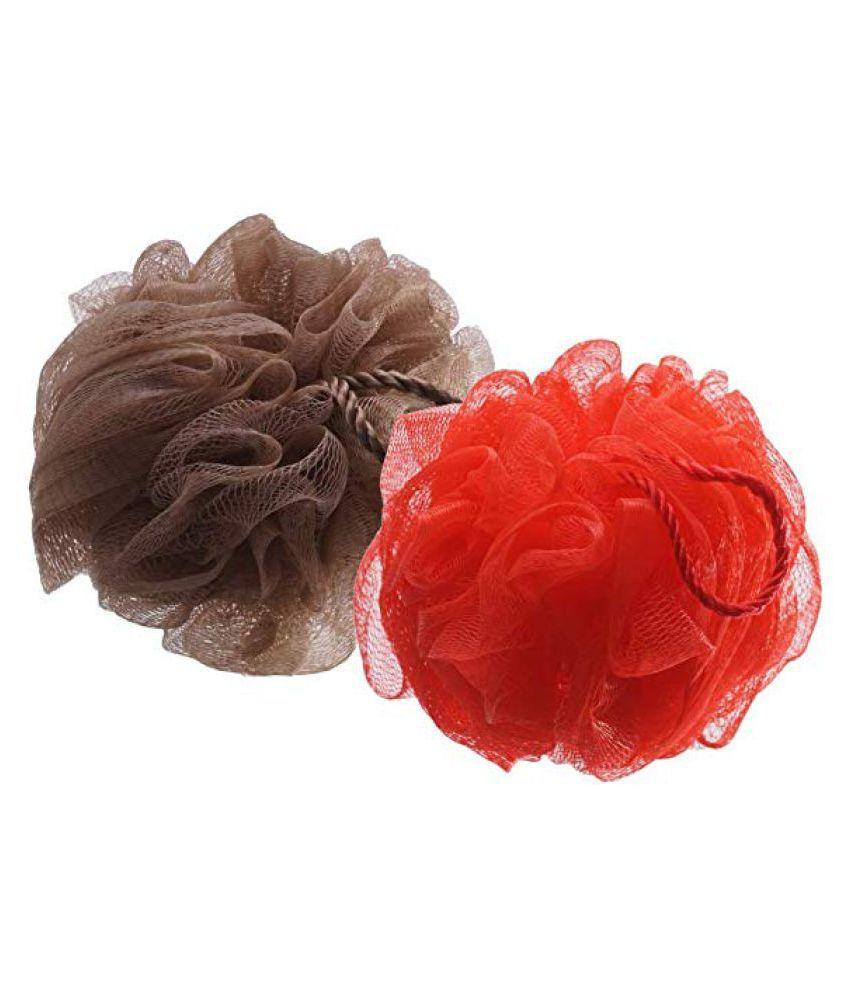 Gubb Bath Loofahs & Sponges (Brown & Red) Bath Sponge Red Pack of 2