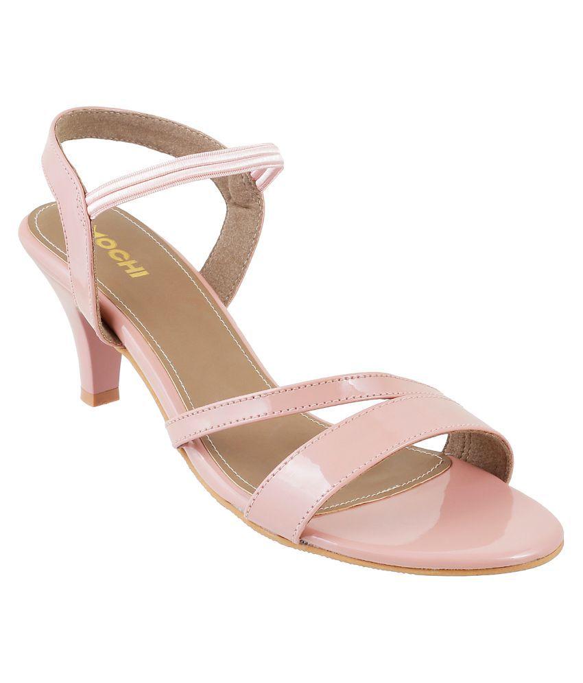 Mochi PEACHPUFF Stiletto Heels