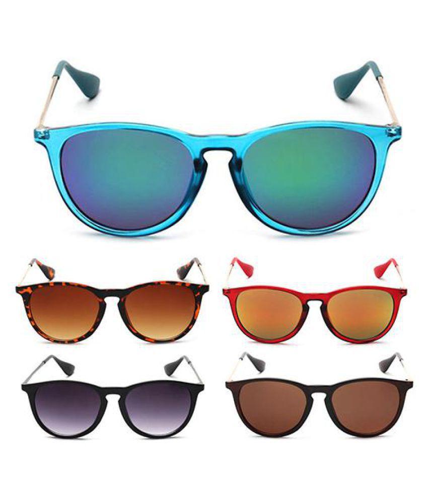 Women's Men's Retro Metal Frame Round Glasses Eye Sunglasses Glasses