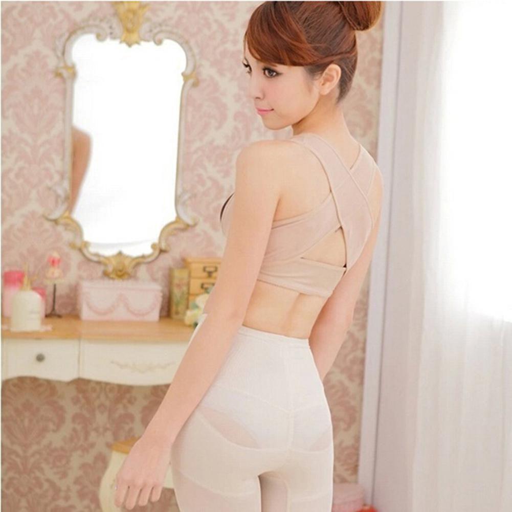Women Chest Support Belt Adjustable Shoulder Back Posture Corrector Brace Vest