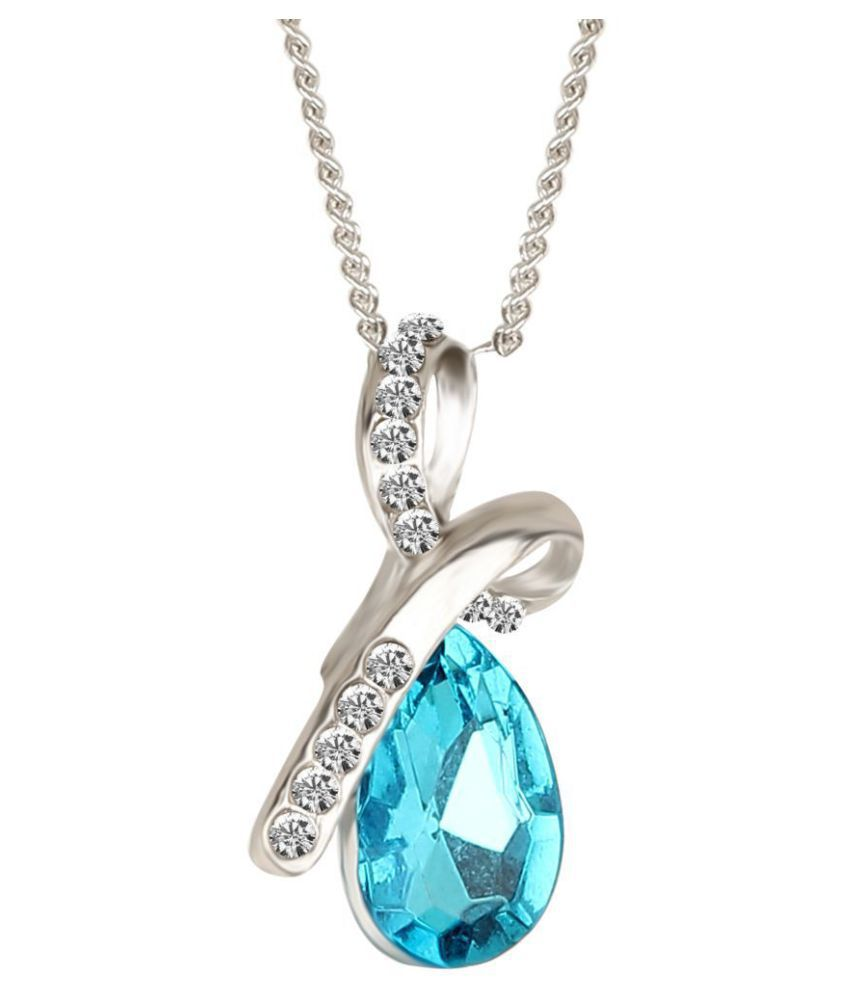 5dc74ab18eb413 Popmode Attractive Blue Crystal Pendant and Silver Chain Set for Girls: Buy  Popmode Attractive Blue Crystal Pendant and Silver Chain Set for Girls  Online in ...