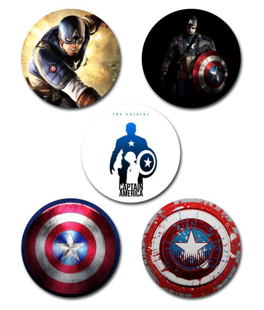 EFW Button Badge Captain America