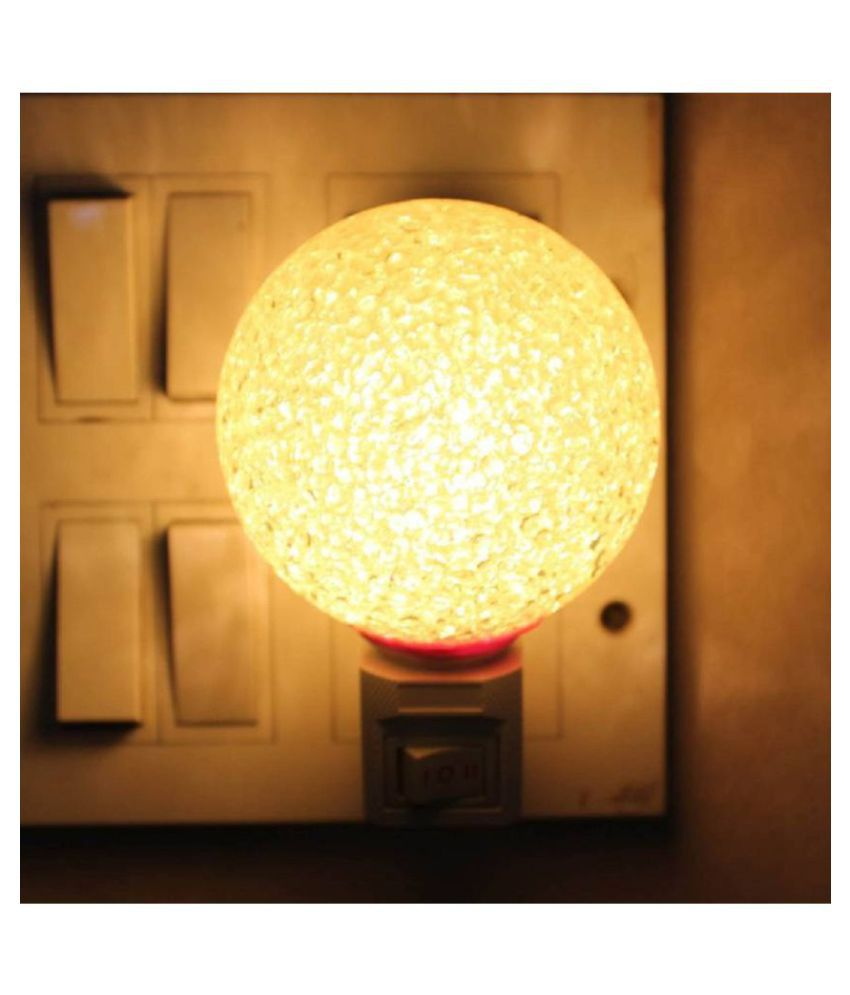 royal home creations Night Lamp Yellow - Pack of 1