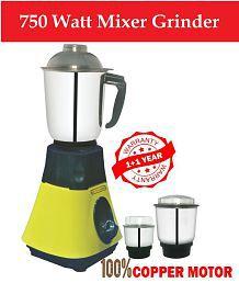 LONGWAY SUPER DLX 750 Watt 3 Jar Mixer Grinder
