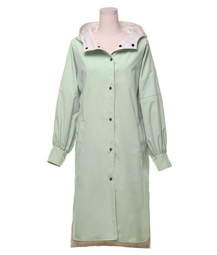 Destiny Waterproof Long Raincoat - Green