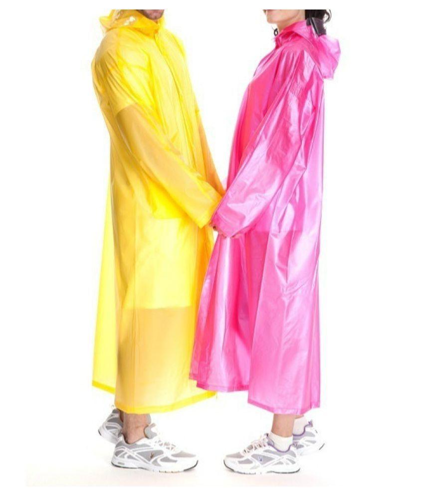 Destiny Waterproof Long Raincoat - Yellow