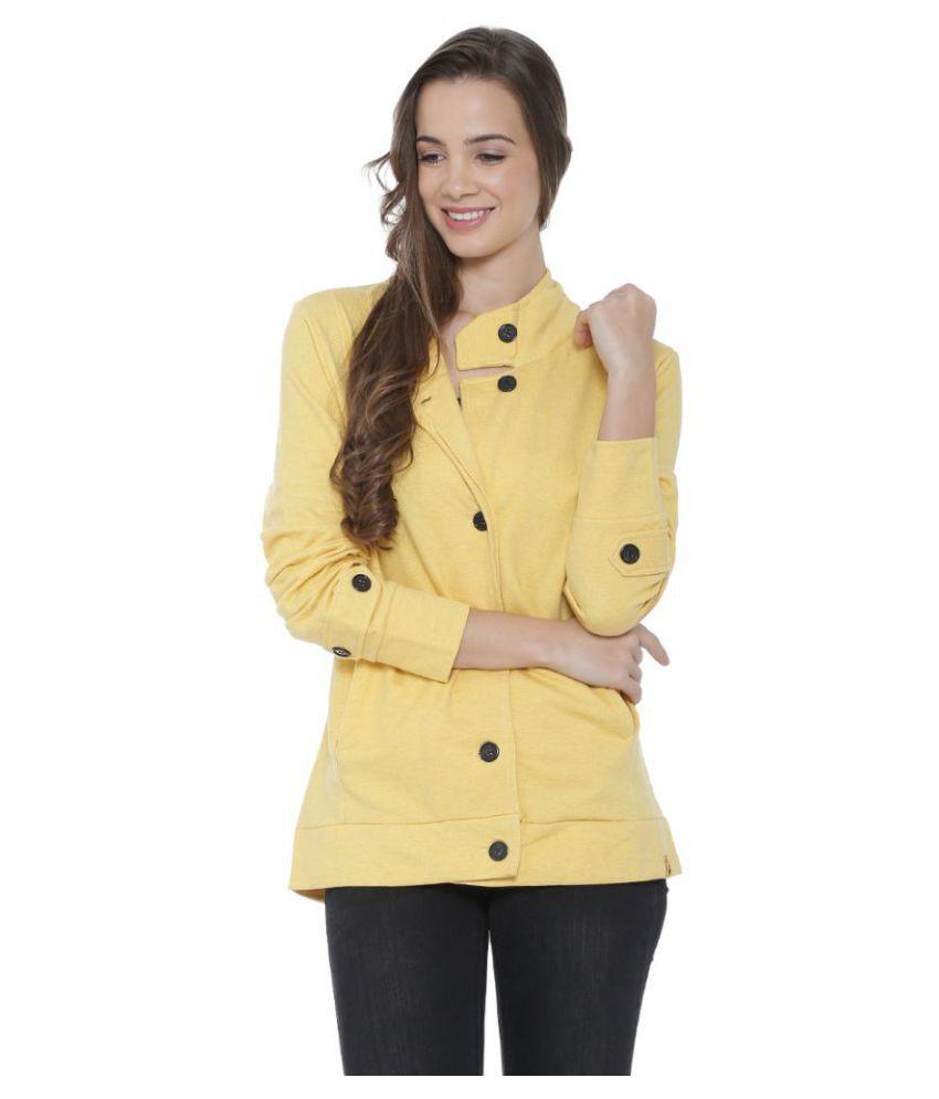 Campus Sutra Cotton Yellow Blazers