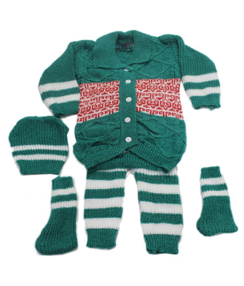 2c7b43eec Thanksouma Baby Boys and Baby Girls Woollen Casual Sweater Set - Buy ...