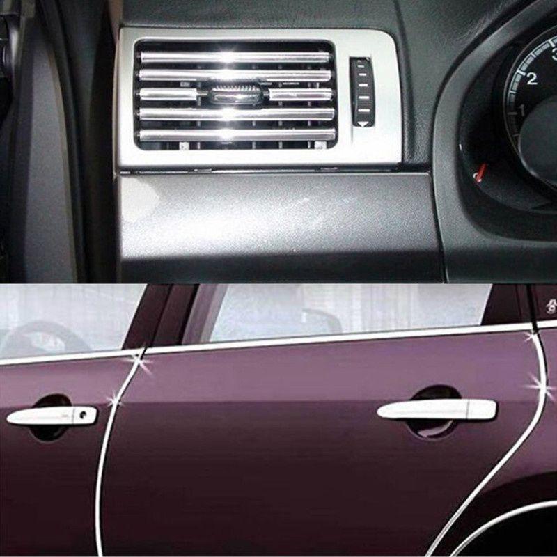 4M DIY Car Decoration Strip Auto Air Conditioner Outlet Vent Grille Chrome Decoration Styling Strip