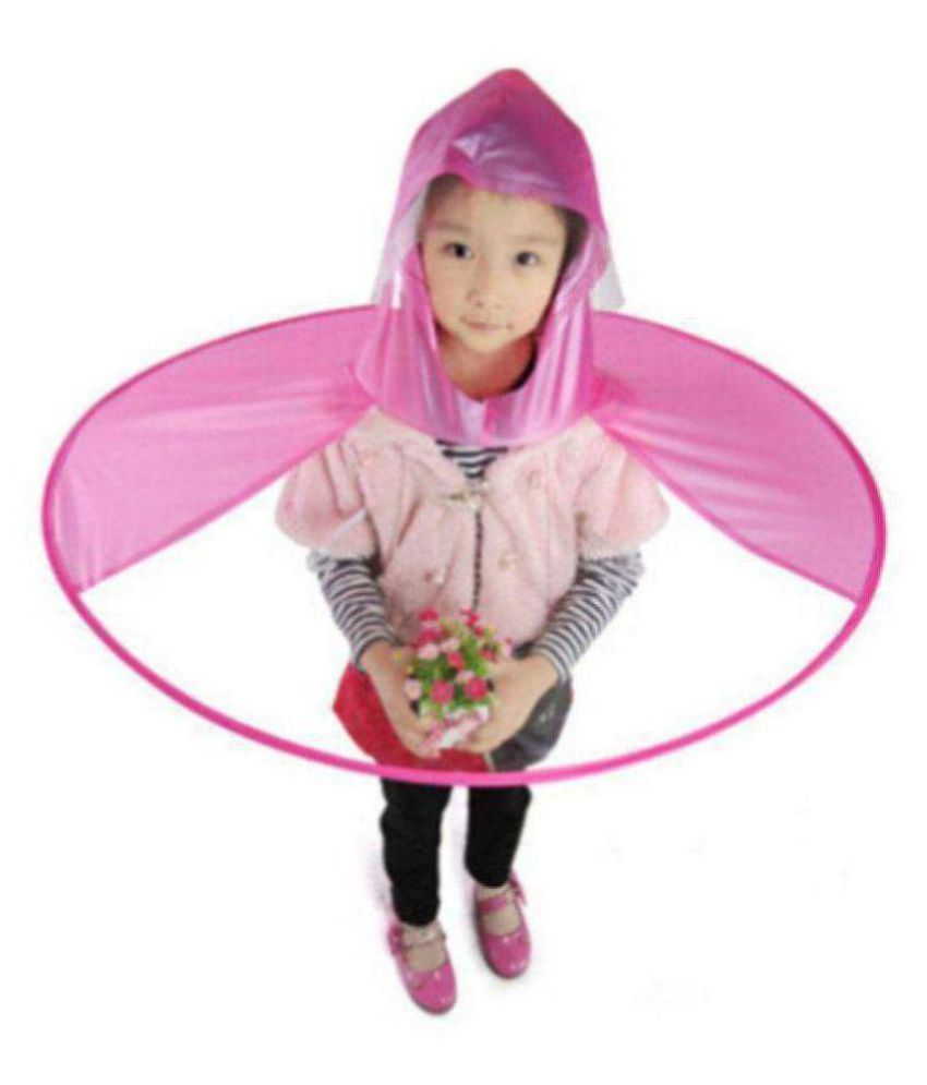 Creative UFO Waterproof Hands-Free Umbrella Rain Hat Headwear Cap Raincoat  Outdoor Fishing Golf Child Adult Student Rain Coat Cover Umbrellas Medium   Buy ... 79ff8630caff