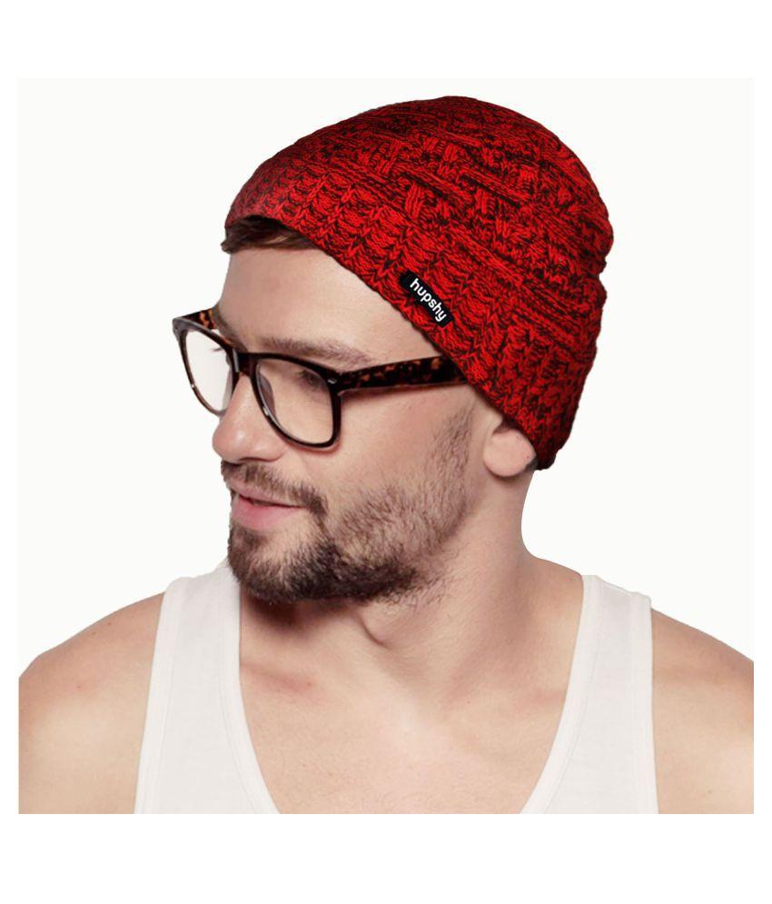 Hupshy Red Wool Caps
