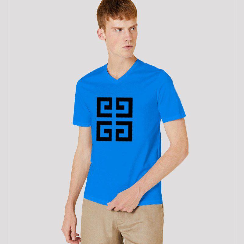 Menpro Blue Half Sleeve T-Shirt Pack of 1