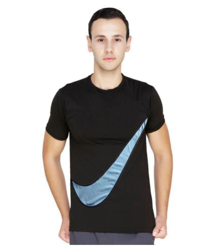 Nike Black Half Sleeve T-Shirt