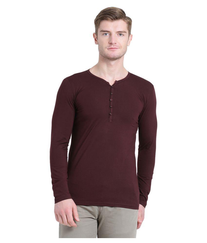Tinted Maroon Full Sleeve T-Shirt