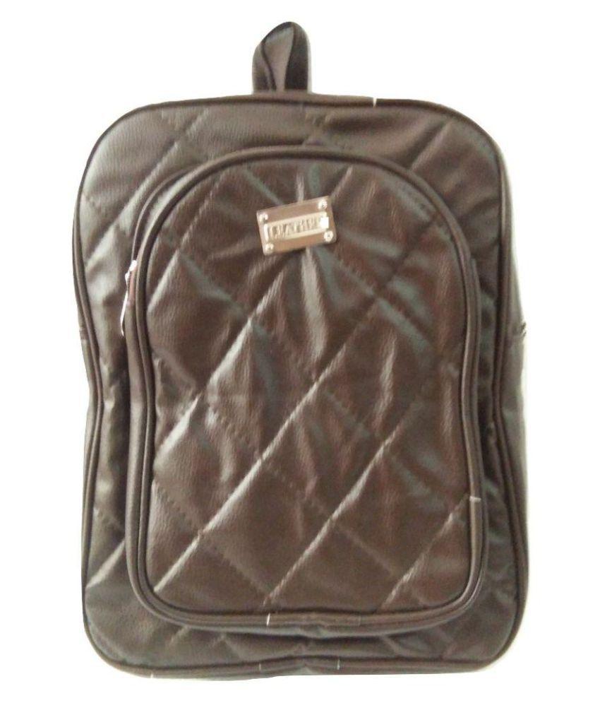 LEATHER CASTLE DARK BROWN BACKPACK Backpack