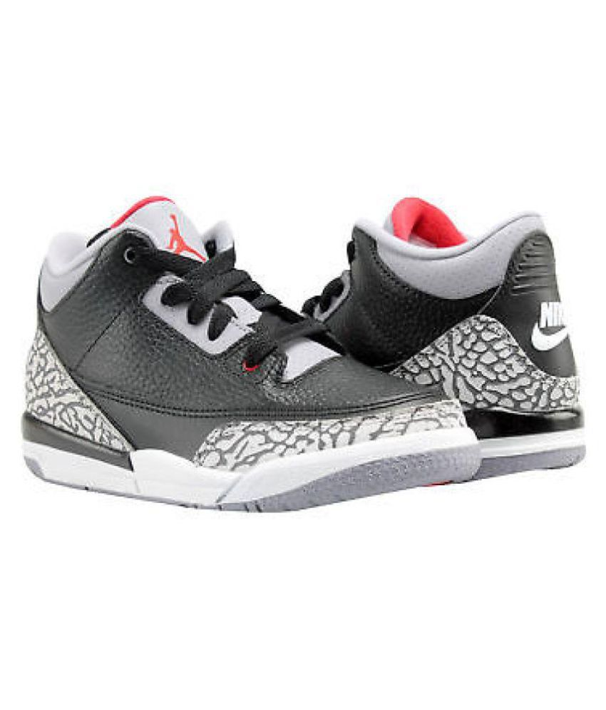 new concept 87ee7 cb0d1 Nike Jordan Retro 3 cement Black Basketball Shoes