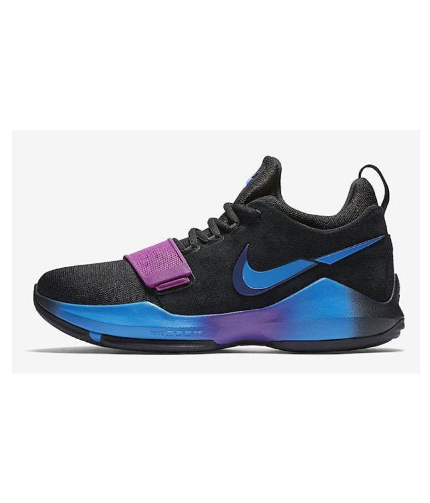 nike pg 1 black blue purple billig