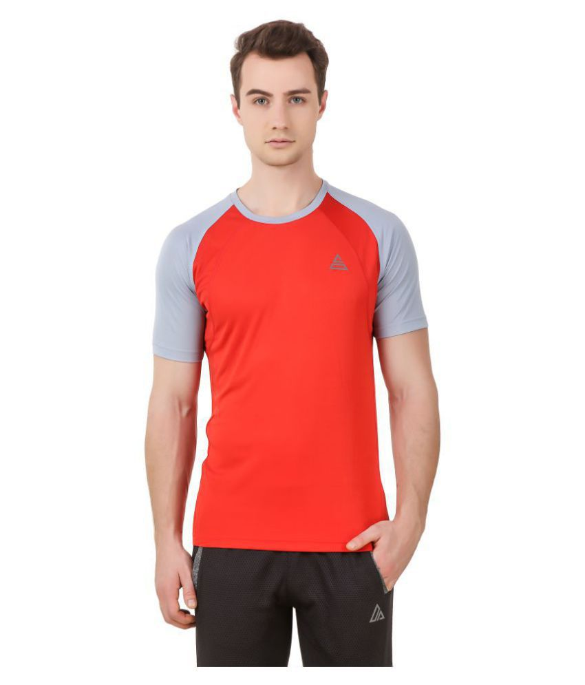 Delta Sports Red Polyester T-Shirt