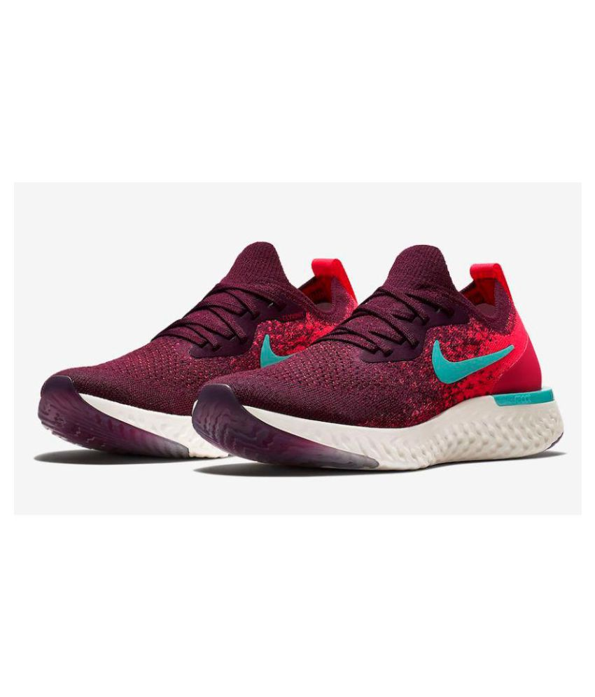 search for official complimentary shipping beautiful and charming Nike Nike Epic React Flyknit Red Obit Running Shoes Red For Gym Wear