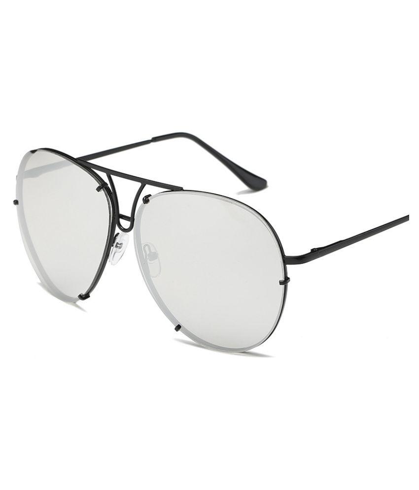 Phantom Silver Aviator Sunglasses ( 17038 )
